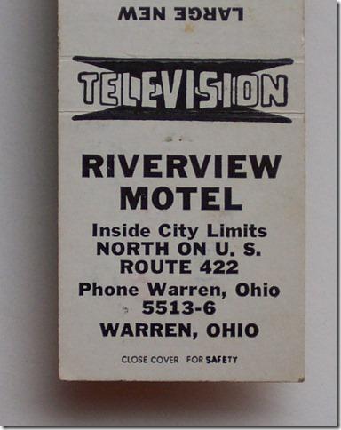 Riverview Motel matchbook2