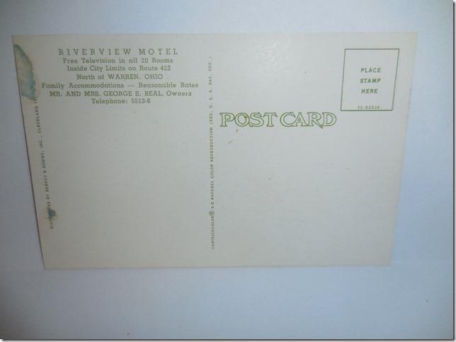 Riverview Motel postcard2